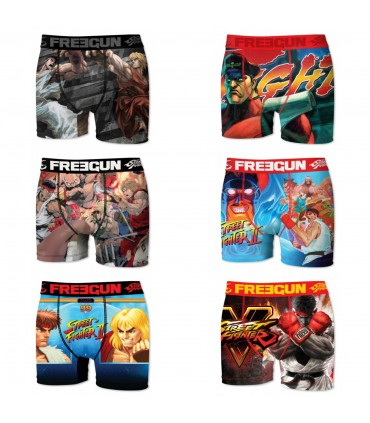 Lot de 6 boxers Garçon Street Fighter
