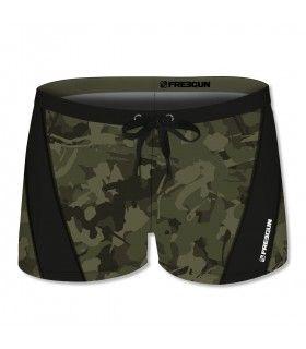 Boxer de bain homme allover print avec empiècement Camouflage