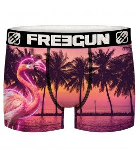 Boxer homme Flamant rose