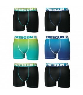 Lot de 6 Boxers Homme Rainbow Freegun
