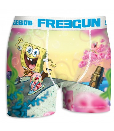 Boxer garçon bob l'éponge escargot freegun multicolore