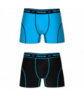 Pack of 2 men's Aktiv Black and Blue Boxers
