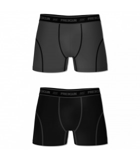 Pack of 2 Men's Aktiv Black and Grey Boxers