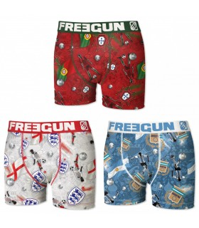 Lot de 3 Boxers garçon Nations