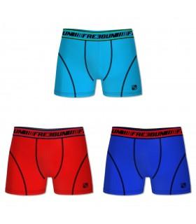 Lot de 3 Boxers coton homme CLIM Multicolore