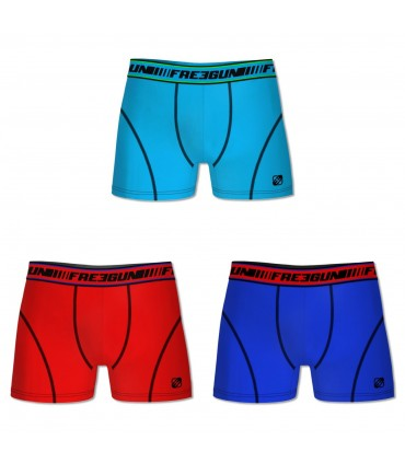 Lot de 3 Boxers Homme CLIM Multicolors Freegun
