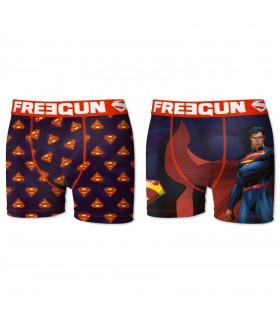 Lot de 2 Boxers Freegun homme DC Comics Superman