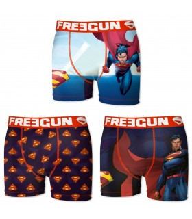 Lot de 3 Boxers Freegun homme DC Comics Superman
