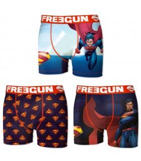 Lot de 3 boxers homme superman freegun
