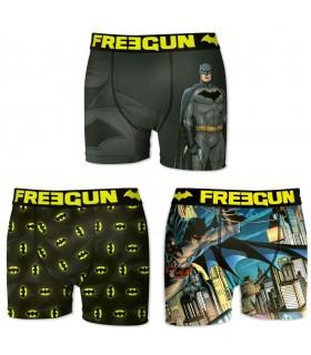 Lot de 3 Boxers Homme Batman Freegun
