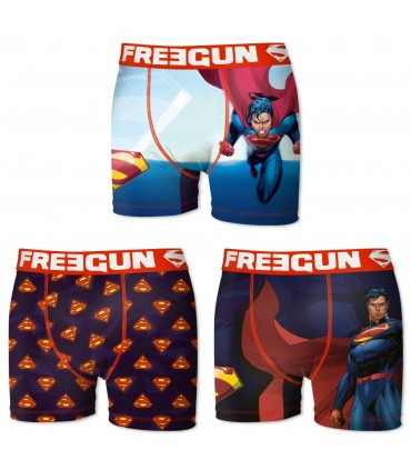 Pack of 3 Boy's DC Comics Superman Boxers