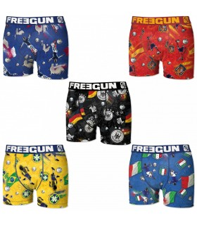 lot de 3 boxers homme superman freegun freegun. Black Bedroom Furniture Sets. Home Design Ideas