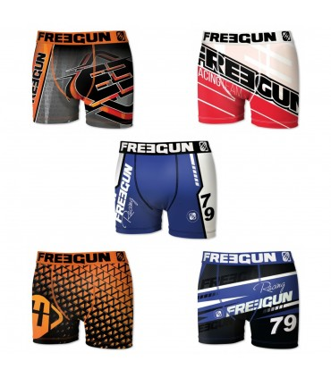 Lot de 5 Boxers garçon Racing freegun multicolore