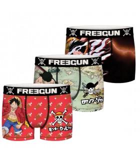 Boxer homme coton Freegun Wint Explore bleu turquoise