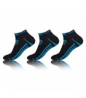 Lot de 3 Paires de Chaussettes Lignes Noir et Bleu