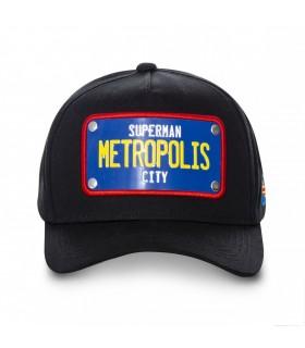 Casquette Capslab Dc Comics Supermant Métropolis Noir