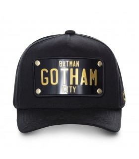 Casquette Capslab Dc Comics Gotham Noir vue de face