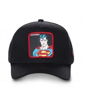 Casquette Capslab Dc Comics Superman Noir vue de face