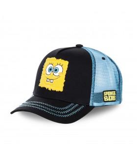 Casquette Capslab SpongeBob Bob L'Éponge Noir filet Bleu