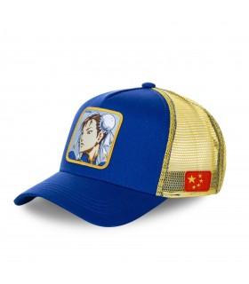 Casquette Capslab Street Fighter Chun-Li Bleu et Jaune