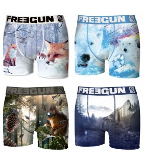 Lot de 4 Boxers Homme Winter Animals FREEGUN