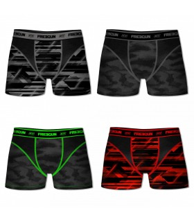 Lot de 4 boxers homme FREEGUN AKTIV