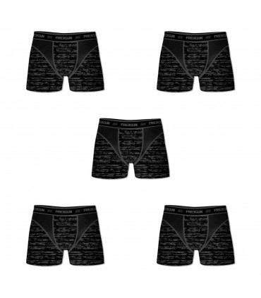 Pack of 5 Men's Aktiv Black Boxers