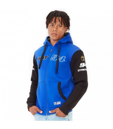 Sweat Zippé A Capuche Gmt94 Bleu Freegun