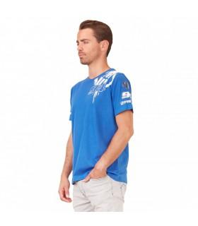 T-Shirt Homme Gmt94 Bleu Freegun