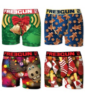 Lot de 4 Boxers Homme FREEGUN CHRISTMAS