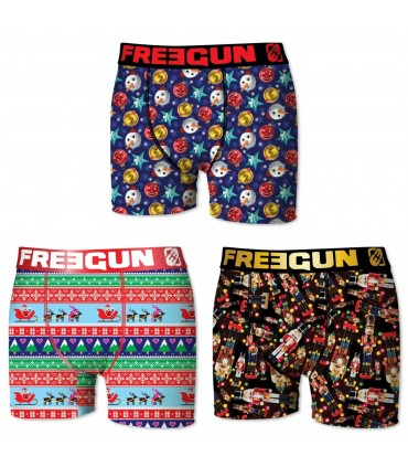 Lot de 3 Boxers Garçon CHRISTMAS FREEGUN