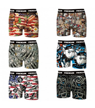 Lot de 6 boxers homme FREEGUN