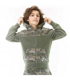 Sweat Zippé garçon Camouflage
