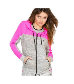 Sweat zippé bi-couleur capuche Miss Freegun