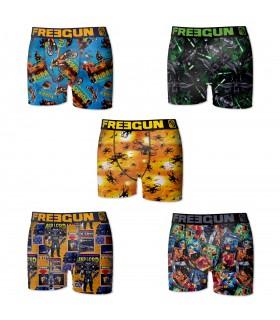 Lot de 5 Boxers Freegun homme multicolore