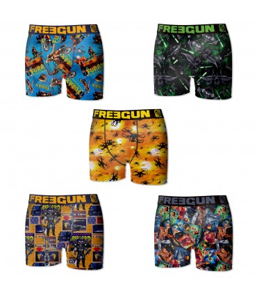 Pack of 5 men's colored Boxers