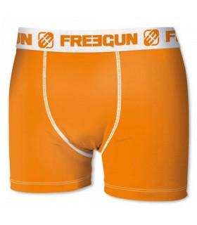 Boxer homme uni orange freegun