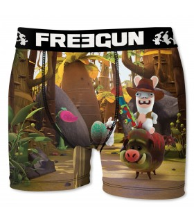 Men's Raving Rabbids Cow Boy Boxer
