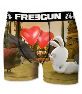 Boxer Homme Cœurs FREEGUN Lapins Crétins