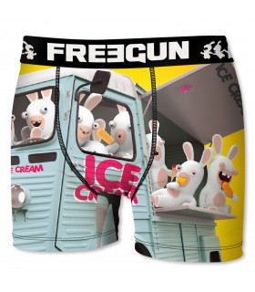 Boxer Homme Ice Cream FREEGUN Lapins Crétins