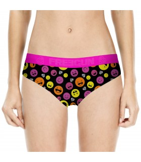Women's Emotik Black and Purple Miss Freegun Boxer