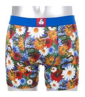 Boy's Violet Flower Boxer