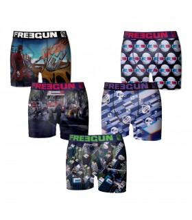 Boxer Freegun Garçon Multicolors Lot x 5