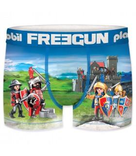 Boxer Garçon Freegun Playmobil Chevaliers Bleu