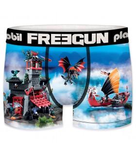 Boxer Garçon Freegun Playmobil Château Fort Bleu