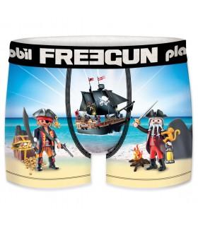 Boxer Garçon Freegun Playmobil Pirates Bleu