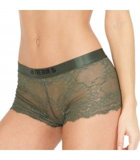 Boxer Freegun dentelle Freegun Kaki