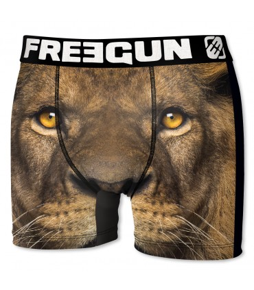 Boxer Homme Freegun Lion Marron