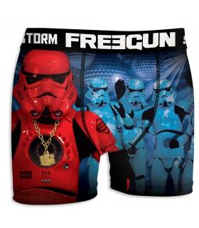 Boxer Homme Freegun Stormtrooper Club Bleu