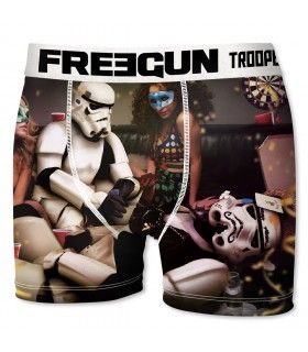 Boxer Freegun homme Stormtrooper Mask Blanc